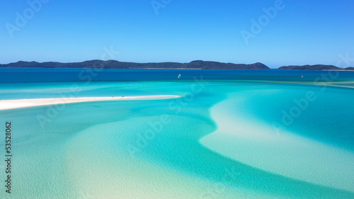 Montage in der Fensternische Australien Whitehaven Beach Whitsundays