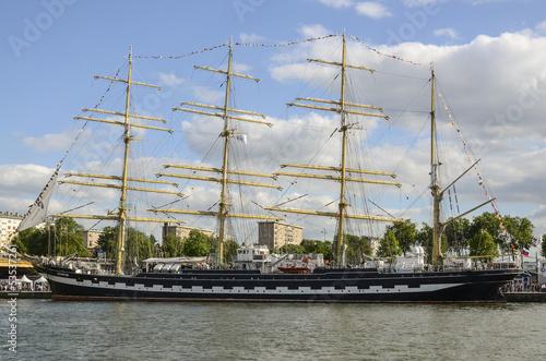 Photo bateau Ruzenshtern,Gréement, armada 2013, Rouen, 76
