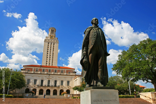 Foto op Canvas Texas George Washington statue at University of Texas