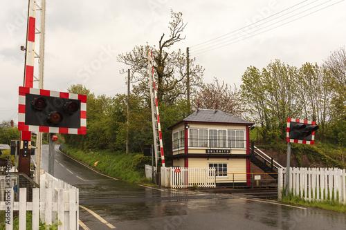 Fotografia, Obraz  Culgaith Signal Box and Level Crossing