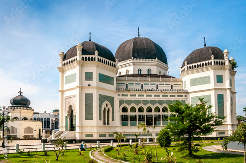 Foto op Aluminium Indonesië Grand Mosque Medan