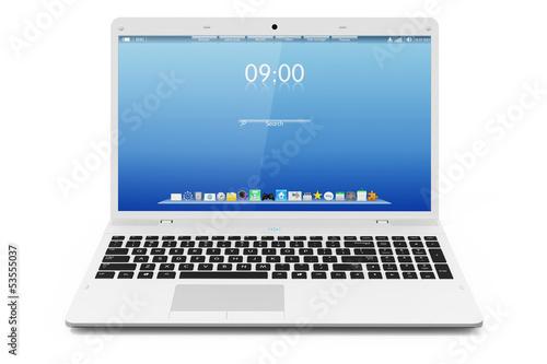 Fotografía White mobility laptop