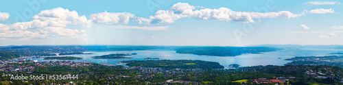 Photo  Oslo panorama aereo