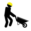man and wheelbarrow