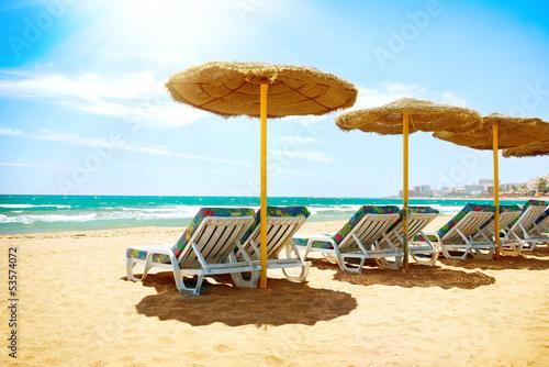 Plakat na zamówienie Vacation Concept. Spain. Beach Costa del Sol. Mediterranean Sea
