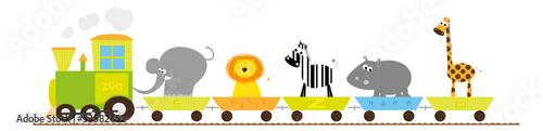 Fotografía  Train with African animals