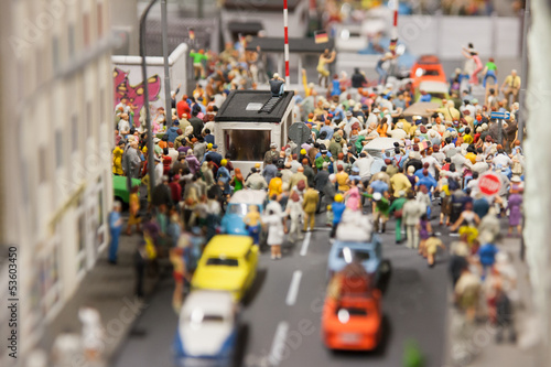 Deurstickers New York City Miniature world