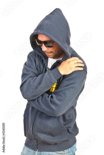 Fotografía  Hooded rapper man
