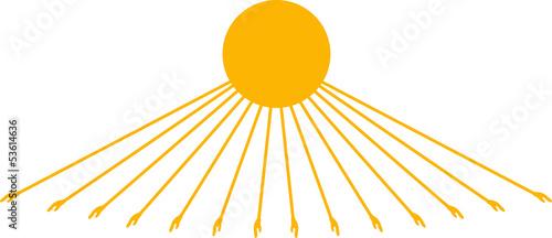 Ägyptische Sonne mit Händen Poster Mural XXL