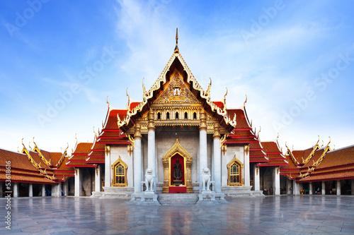 Tuinposter Bangkok Marble Temple (Wat Benchamabophit Dusitvanaram),Bangkok,Thailand