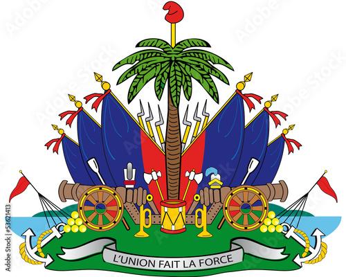 Canvas Print Haiti shield