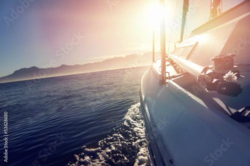 Foto  sailing ocean boat
