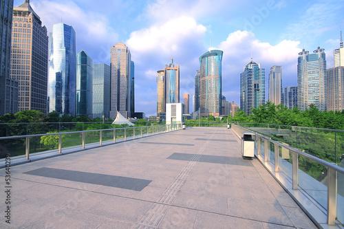 Shanghai Lujiazui city building landscape