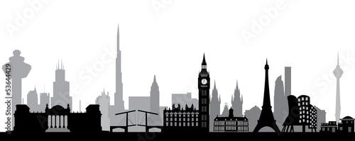 world skyline Wallpaper Mural