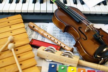 Fototapeta Children's instrumens