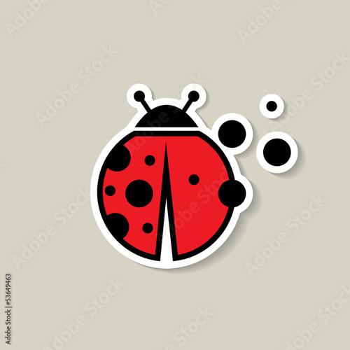 Fotografia Ladybug sticker