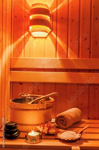 Fotografie, Obraz  Wellness und Spa in der Sauna