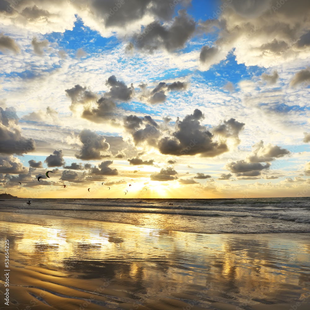 Fototapeta Mediterranean sunset