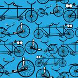 rower retro wzór bez szwu - 53654847