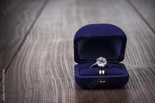 Fotografie, Obraz  ring in the box on the table