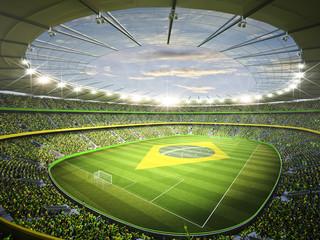 Panel Szklany Podświetlane Do pokoju chłopca Stadion Brasil 2