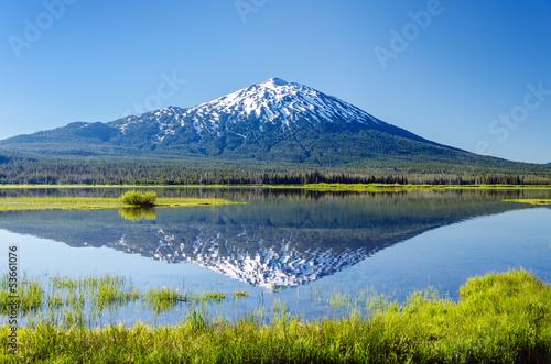 Fotografía  Mount Bachelor Reflection