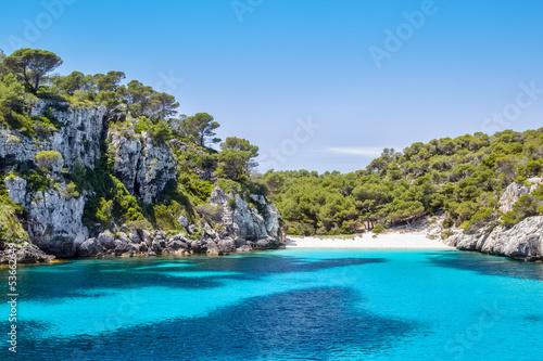 Cala Macarelleta - popular Menorca Island beach Fototapete