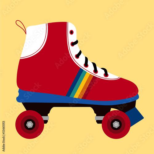 Carta da parati White and red skating shoe