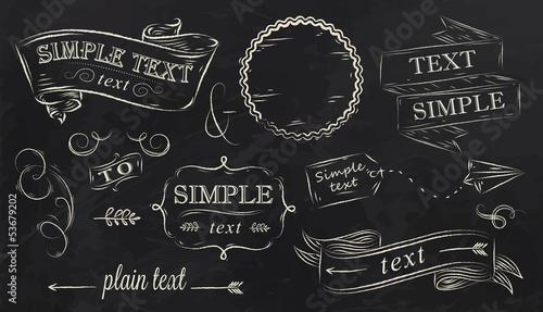 Photo Chalk design elements