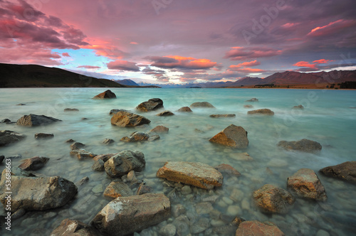 Photo sur Toile Nouvelle Zélande Lake Tekapo, New Zealand
