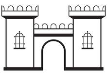 Icon Castle Isolated On White Background