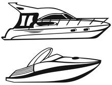 Luxury Yacht Isolated On White...