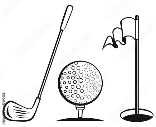zestaw-ikon-golfa-flaga-golfowa-pilka-golfowa-i-kij-golfowy
