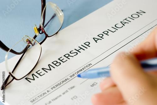 Fotografía  membership application form