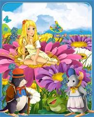 Obraz na płótnie Canvas Thumbelina - the princesses - castles