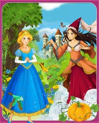 Obraz na płótnie Canvas Cinderella - castles - knights and fairies