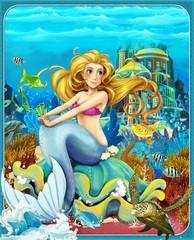 Obraz na płótnie Canvas The Little Mermaid - The princesses - castles