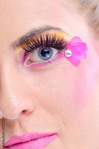 Foto op Plexiglas Beauty Beautiful Woman with Luxury Makeup