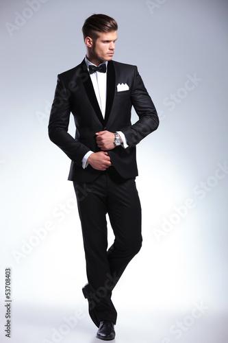 Fotografie, Obraz  full body of a business man looking away