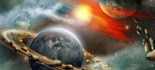 Fototapeta widok na przestrzeń kosmiczną