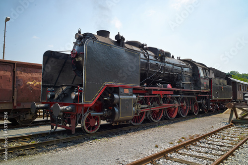 Fototapeta Historical German steam train 06-018 obraz na płótnie