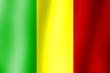 canvas print picture - Flagge Mali