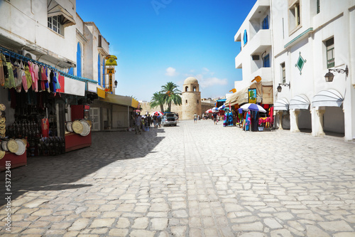 Deurstickers Tunesië Street in Sousse, Tunisia