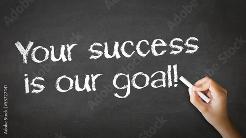 Your Success is our goal Chalk Illustration Canvas