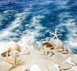 Auszeit: Muscheln und Seesterne am Meer