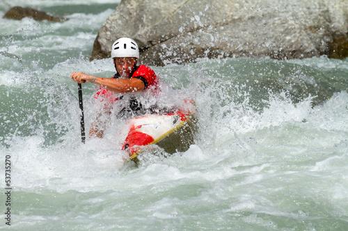 discesa in kayak Tapéta, Fotótapéta