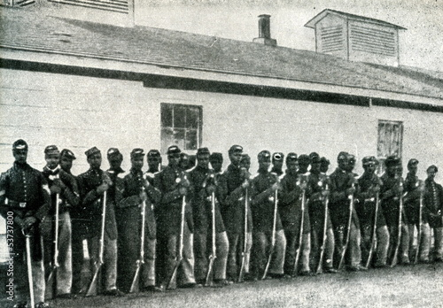 Black soldiers in Union army (American Civil War) Fototapet