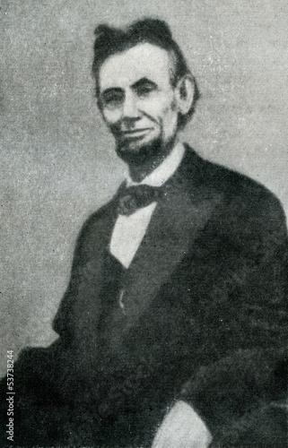 Fotografia  Abraham Lincoln (last photo, 19. april, 1865)