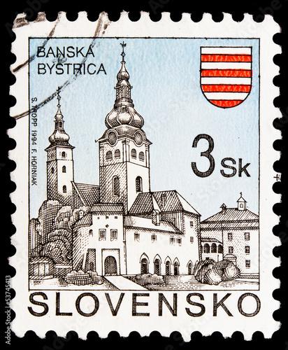 Fotografia  Slovakian post stamp