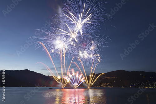 Fototapeta  Fireworks on the Lake Maggiore, Luino